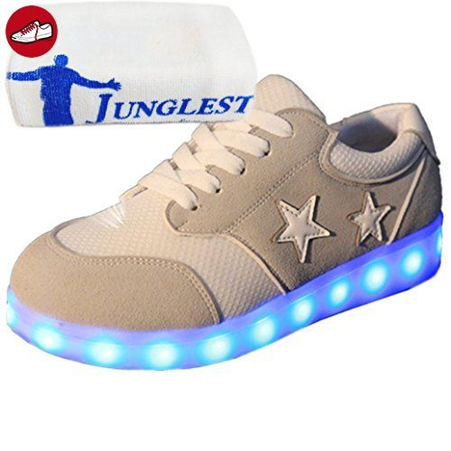 (Present:kleines Handtuch)Rot EU 43, Flash mode Sneakers LED-Licht Casual Sport Luminous Unisex Couple Shoes Color Top Charging Women Sneakers 7