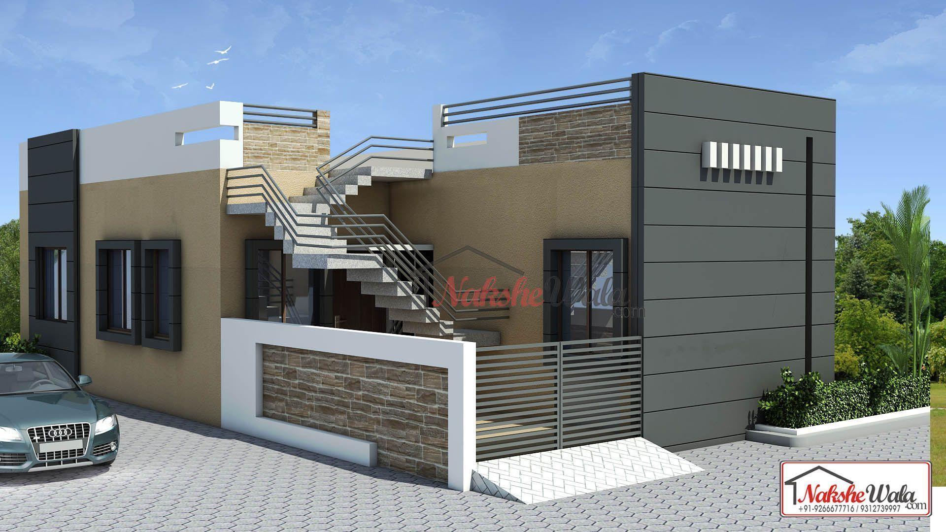 Single Floor Elevation facade Pinterest Building ideas House