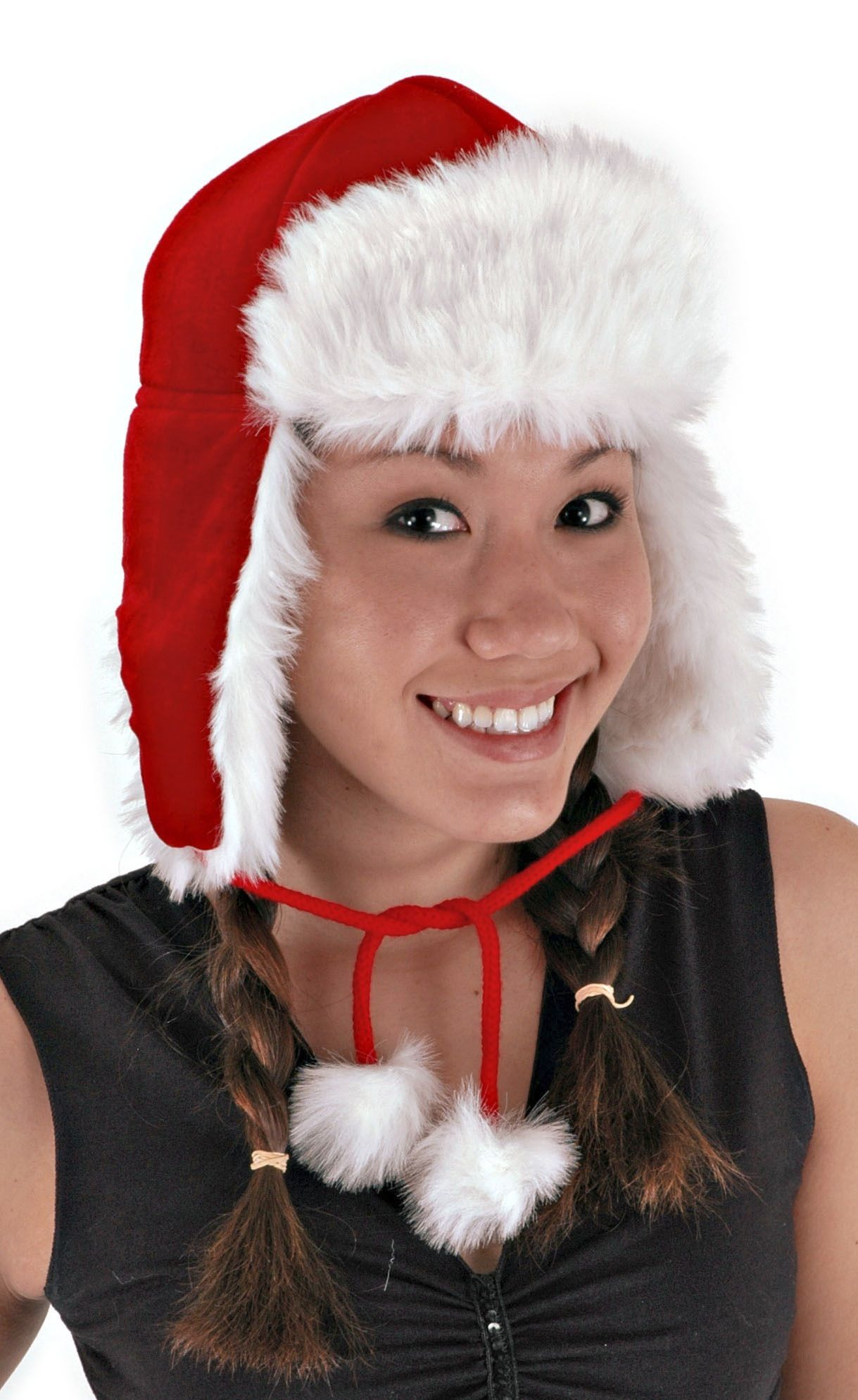 With this red Santa aviator hat, you'll get a festive look that's unique.