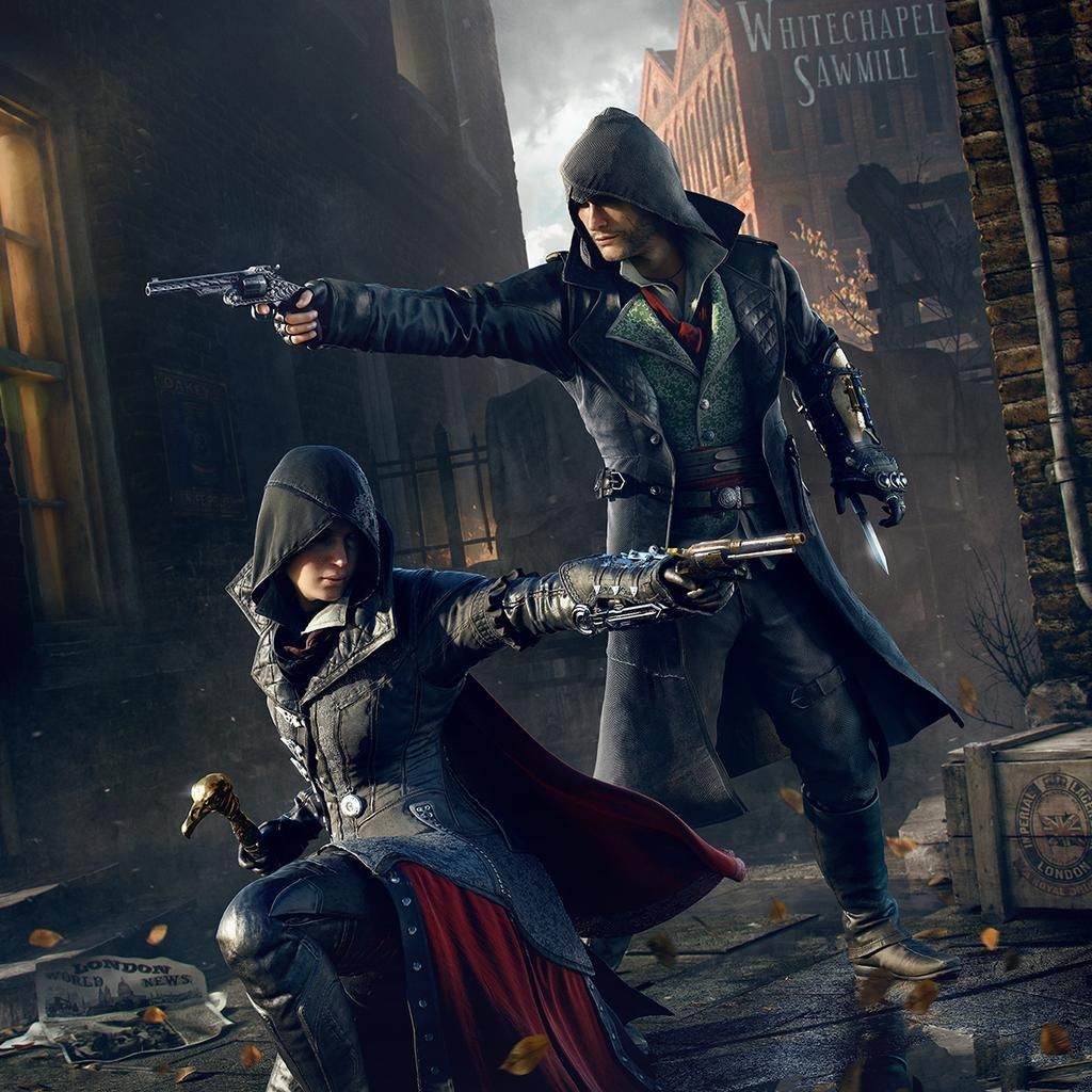 Promotional Art Of Jacob And Evie Frye 1024 1024 Assassin S Creed Assassins Creed Art Assassins Creed Syndicate