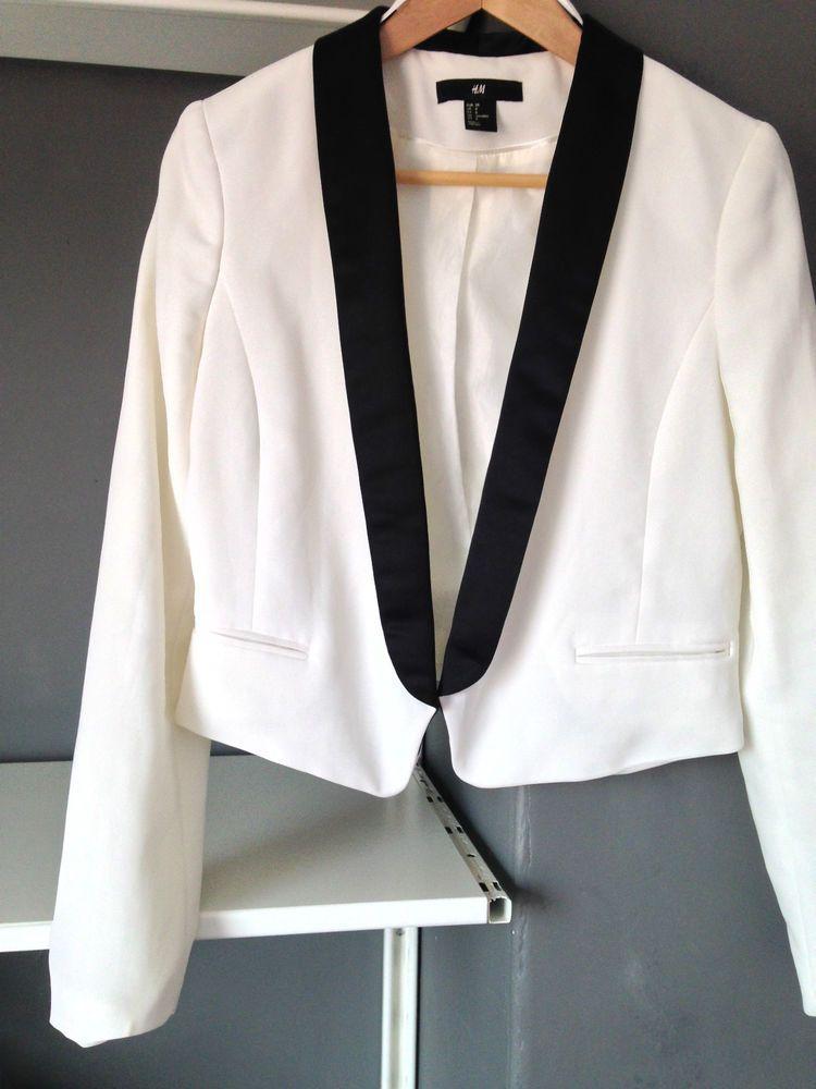 0cc2c4c5080b Black Satin Lapel Tuxedo Dinner Jacket Womens White Blazer Jacket - H M
