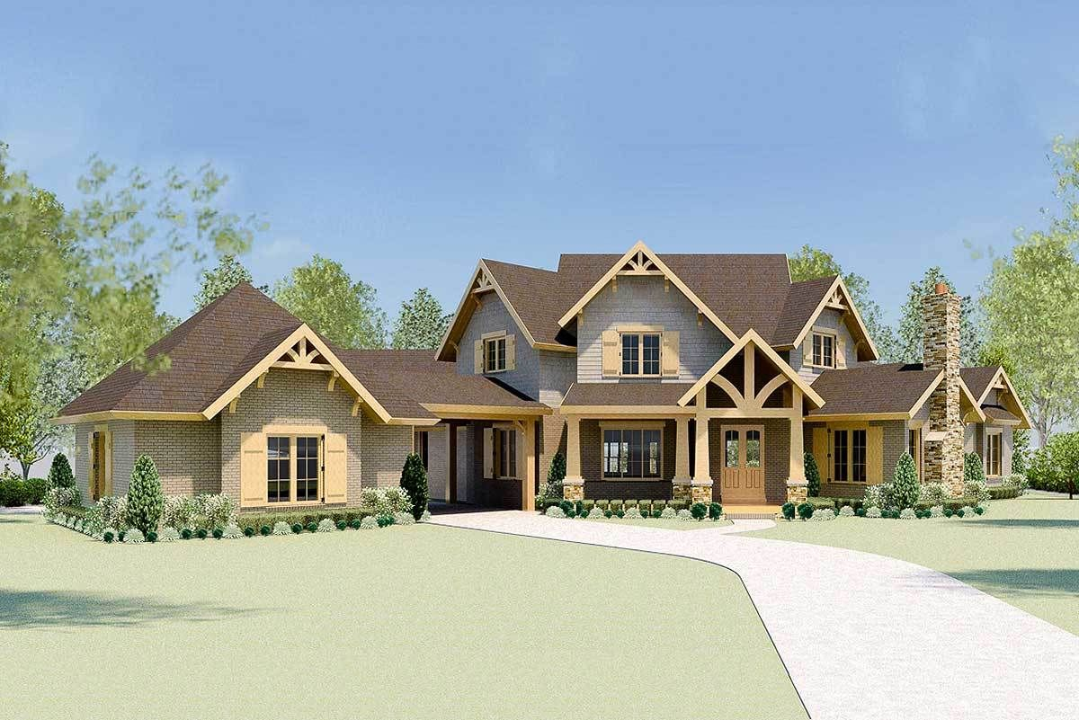Plan 58573sv Luxury Mountain Home Plan With Home Theater