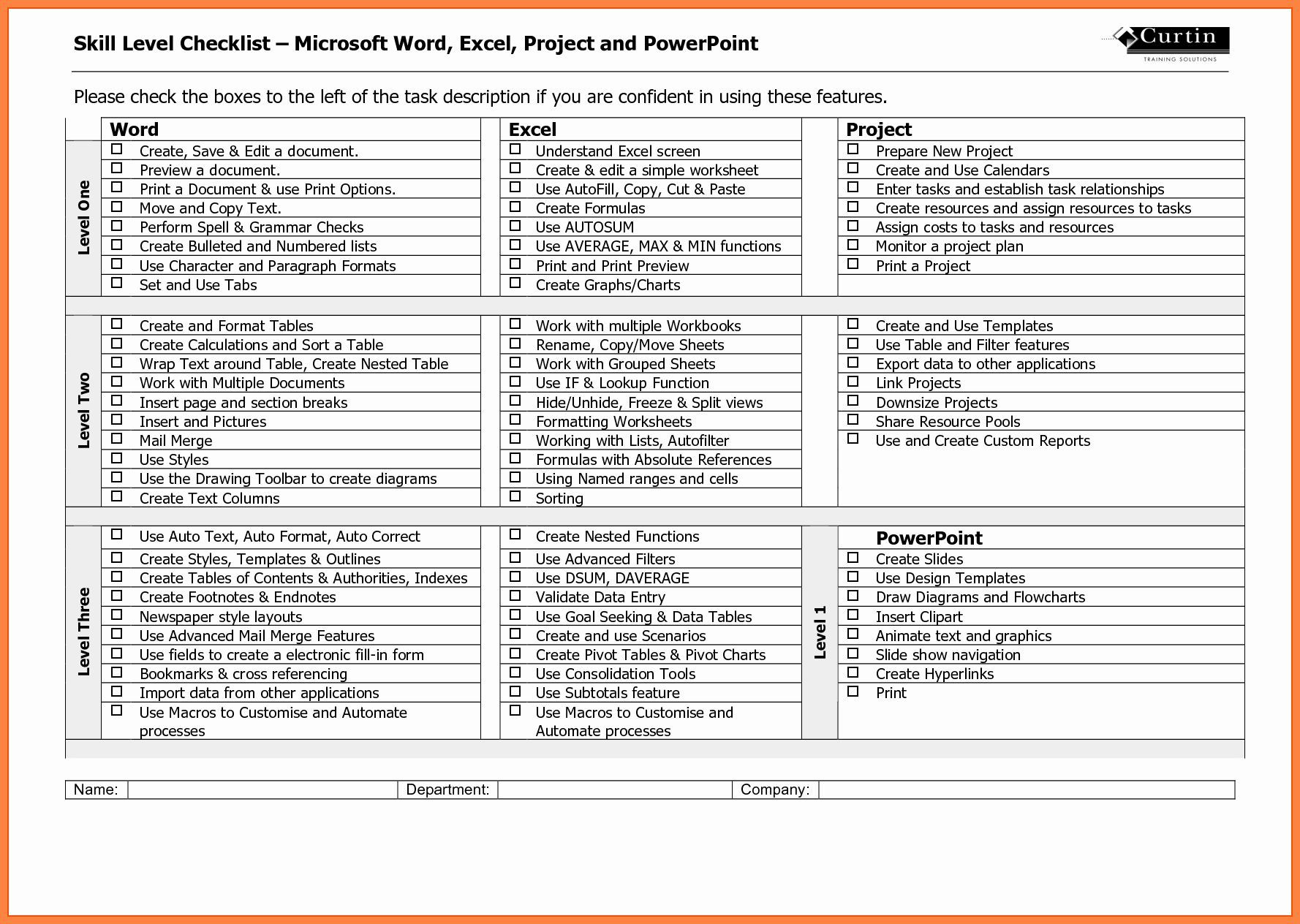 Ms Word Check Template New Checklist Template Ms Word With