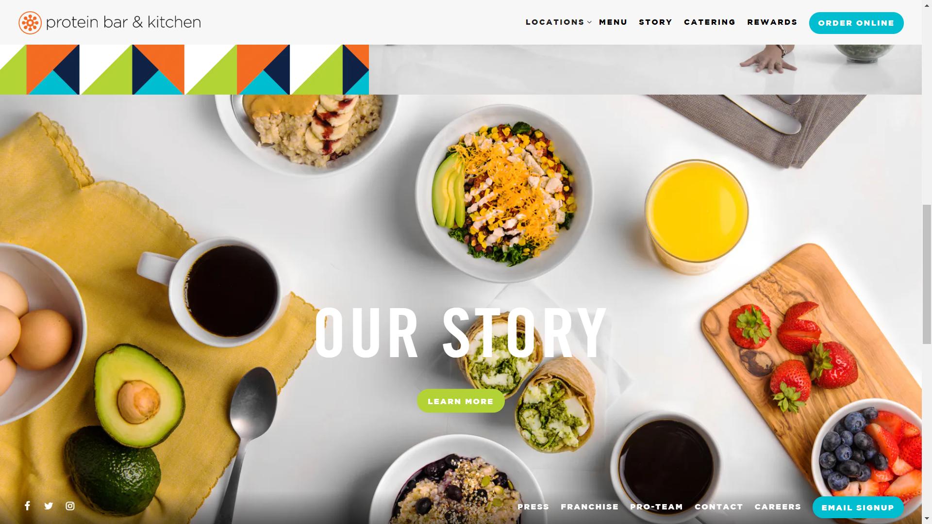 Protein Bar Restaurant Website Design Website Designs Inspiration Restaurant Website Design Simple Website Design Simple Website