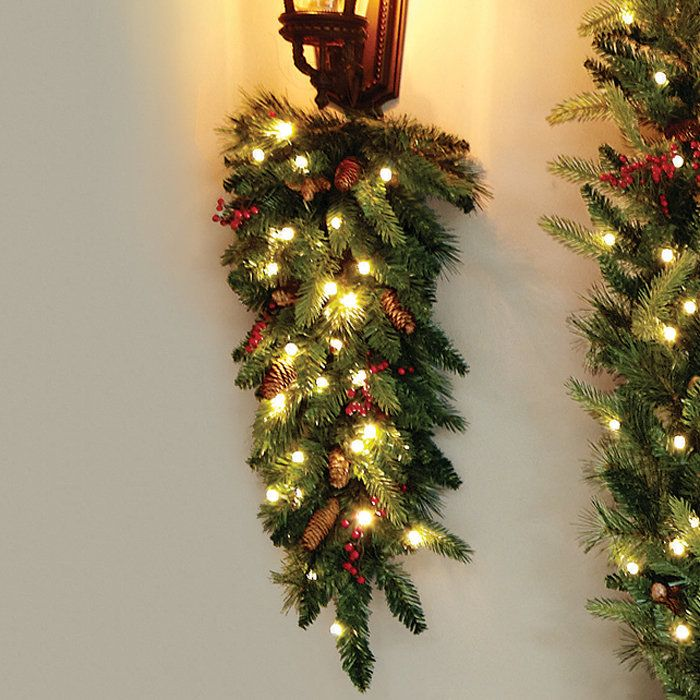 Tech the halls! Cordless LED swag brightens walls, posts or