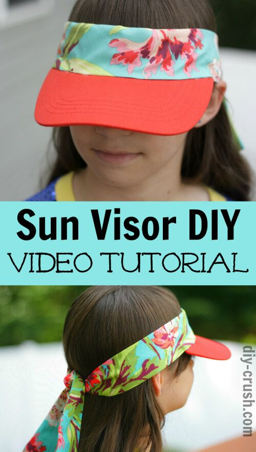 13c532a4 Sun Visor DIY Video Tutorial | Sewing tutorials and tips (SSE) | Sun ...
