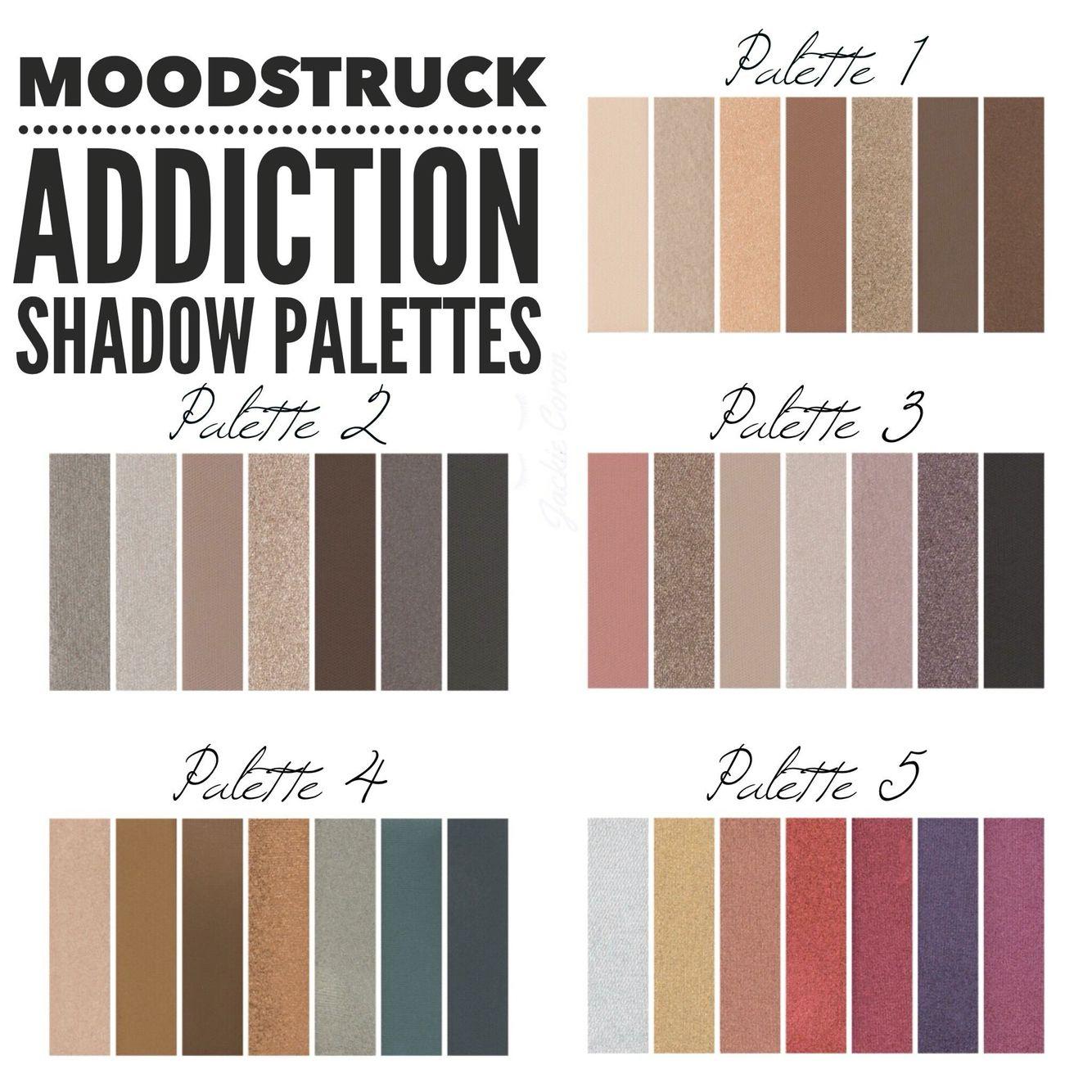 Souvent All 5 Younique Addiction Palettes! ❤ | Younique by Katelin  KC16