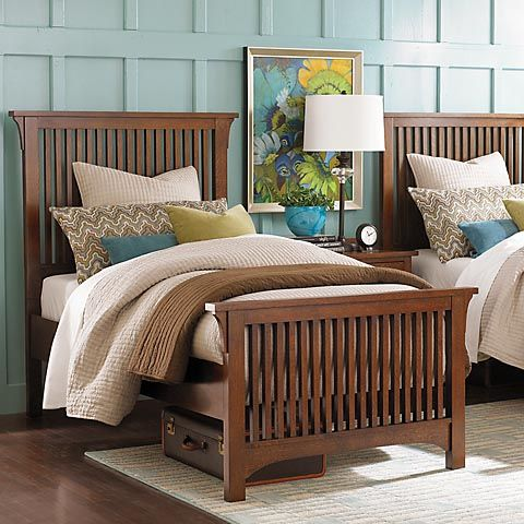 Best Grove Park Twin Gallery Bed By Bassett Furniture 400 x 300