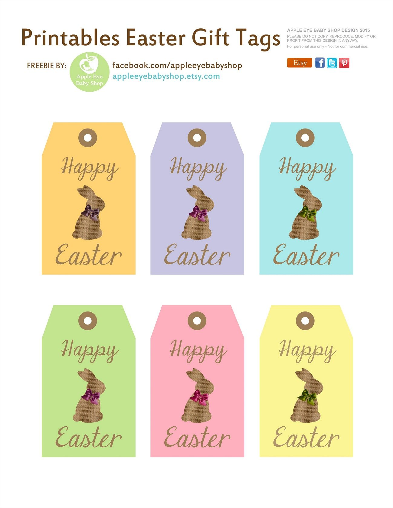 Free printables happy easter bunny gift tags pink blue green free printables happy easter bunny gift tags pink blue green yellow negle Choice Image