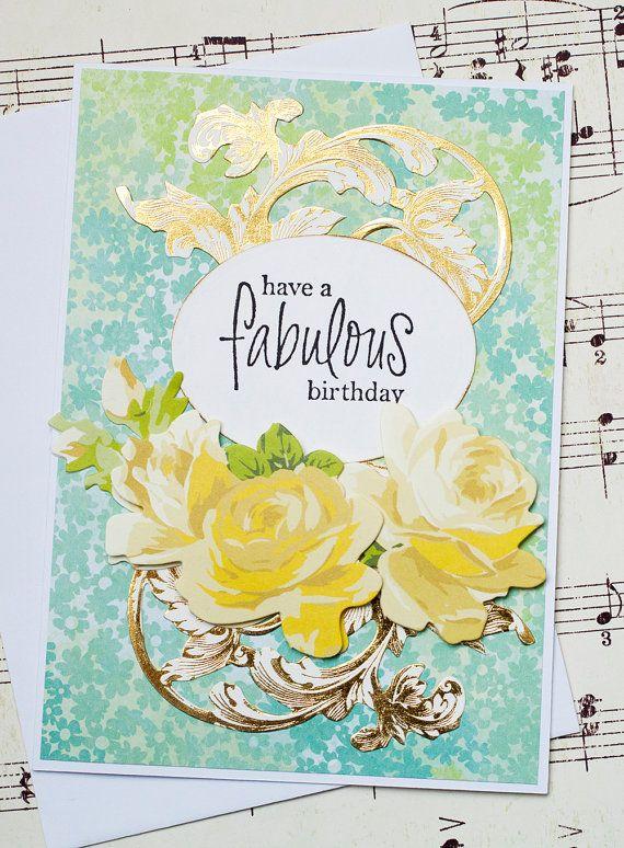 Handmade Birthday Greeting Card Birthday Card For Friend Friend