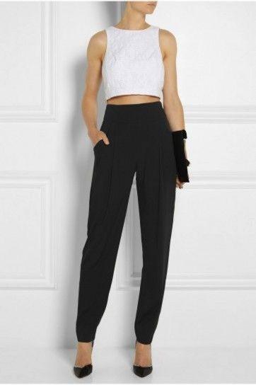 Pantalones De Talle Alto Como Llevarlos Y Combinarlos Fotos De Los Modelos Pantalones De Talle Alto Pantalon De Tela Mujer Pantalones De Vestir Mujer
