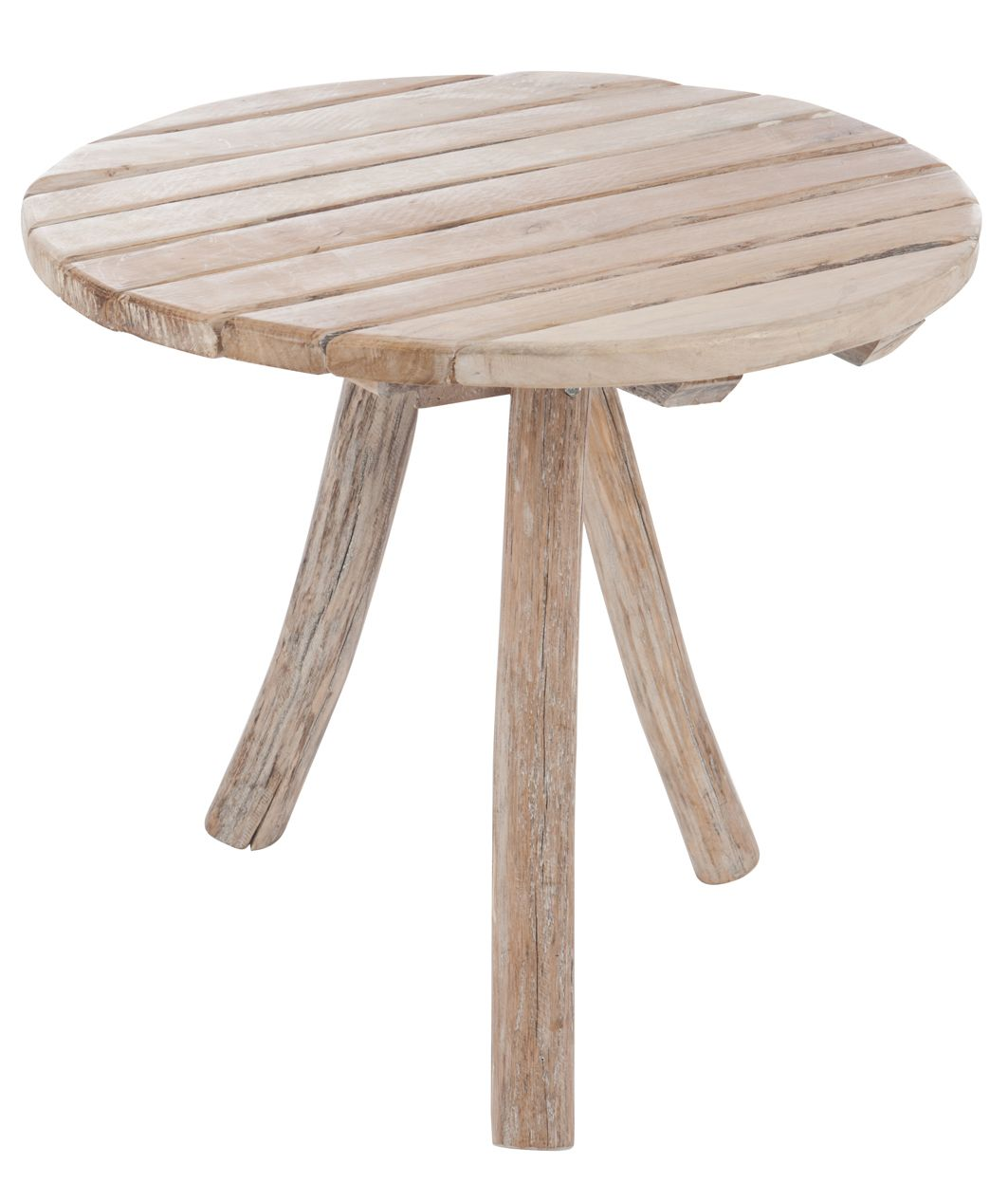 Table D Appoint Ronde 3 Pieds En Bois Naturel D75 H65cm