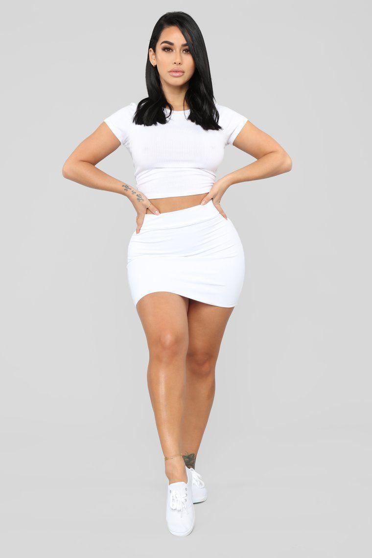 96a87115c14 Melanie Mini Skirt - White in 2019