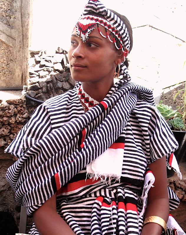 Wedding near Kunchi, Wollega, Ethiopia. Wearing