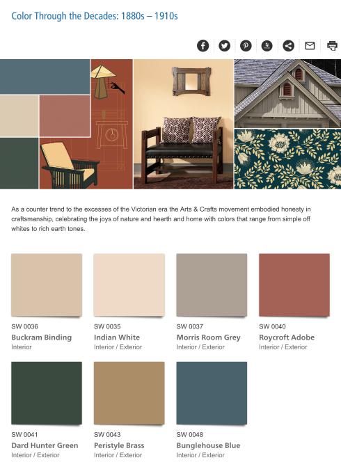 Color Through The Decades 1880s 1910s Victorian House Colors Decor Color Schemes Paint Colors For Home
