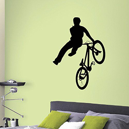 Wall Decal Vinyl Sticker Sport Boy Cycling Bicycle Decor Sb186 ...