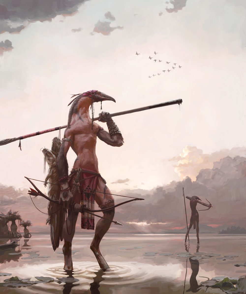DrawCrowd | Marshwalkers by Tom Simpson 01/12/2015 | A personal piece inspired by The Hunter by N.C. Wyeth