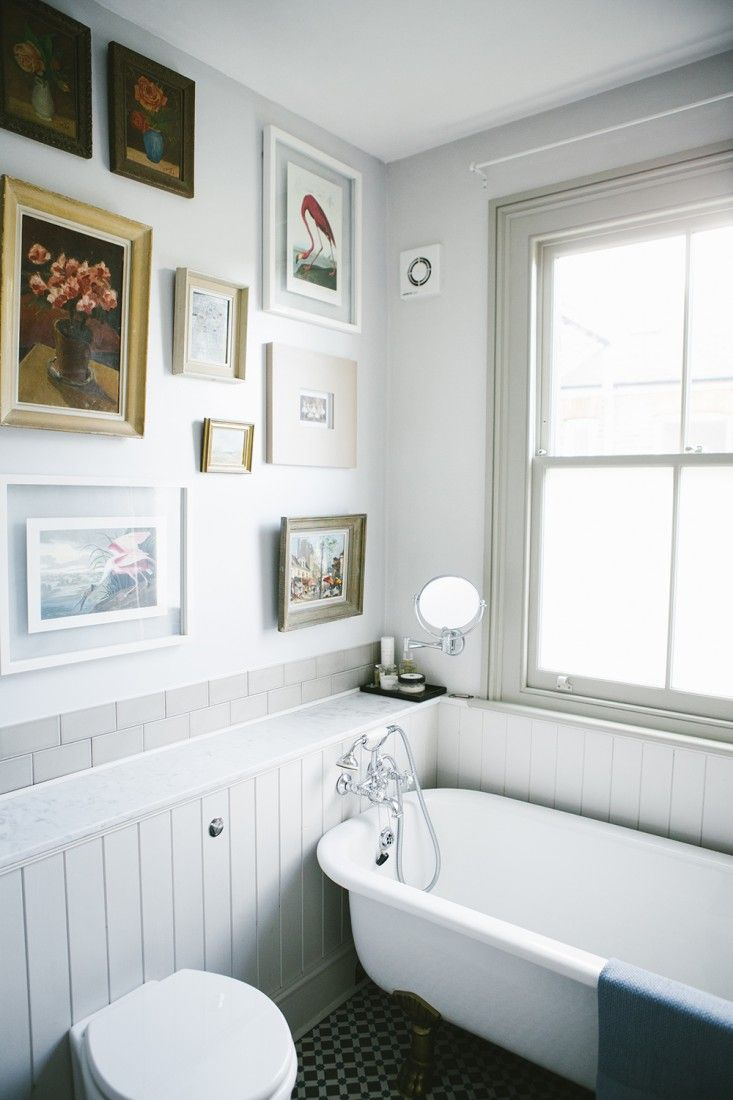 Tongue and groove for bathrooms - Gorgeous Bathroom Love The Minimal Tiling Tongue And Groove Paneling And Claw Foot Tub In Bathroom Of Victorian House Renovation By Imperfect Interiors