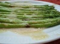 *asparagus and mustard vinaigrette*