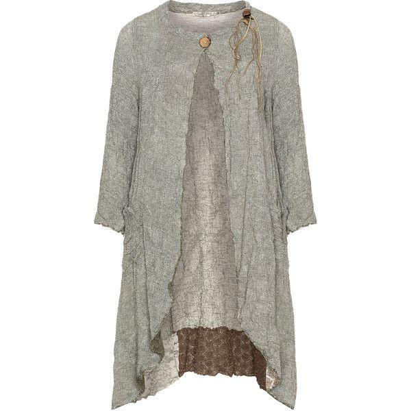 zedd plus Khaki-Green Plus Size Crinkle effect coat ($205) ❤ liked on Polyvore featuring outerwear, coats, plus size, plus size coats, green coat, womens plus size coats, longline coat and womens plus coats