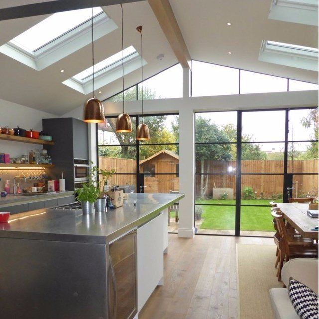 Rear Of House Kitchen With Excellent Indoor Outdoor Vibes