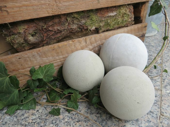 gartendekoration aus beton kugel   gartengestaltung – garten und, Garten Ideen