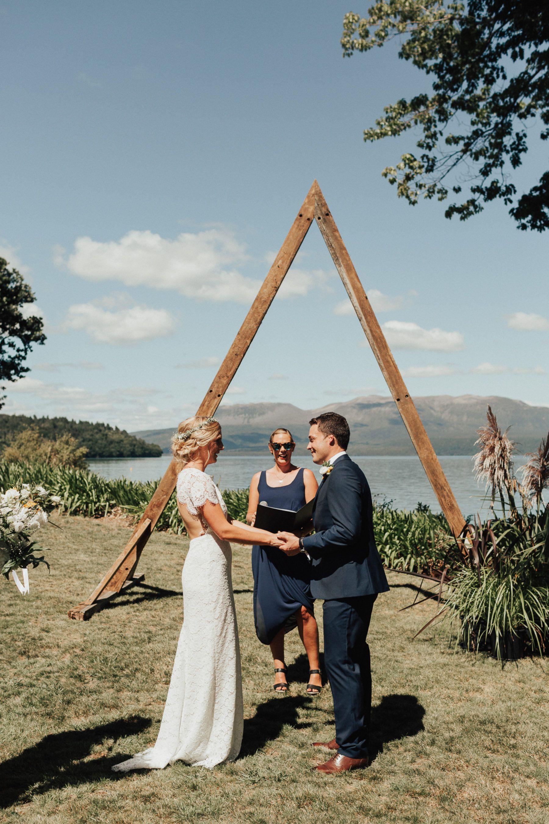 Sophie & Ben's Tipi Wedding at Lake Tarawera Tipi