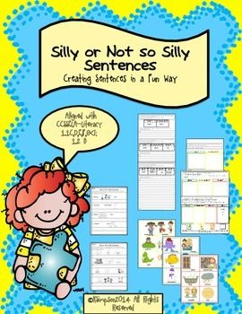 Making Silly Or Not So Silly Sentences Aligned With Common Core Silly Sentences Language Activities Writing Words In dire need of something. pinterest