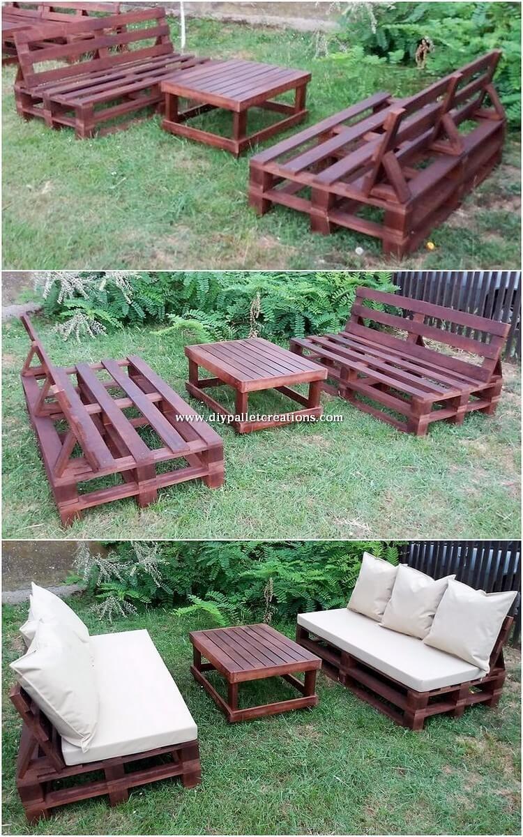 Tempting Diy Ideas With Recycled Wooden Pallets Mobilier Jardin Palettes Palette Diy Mobilier Exterieur En Palettes