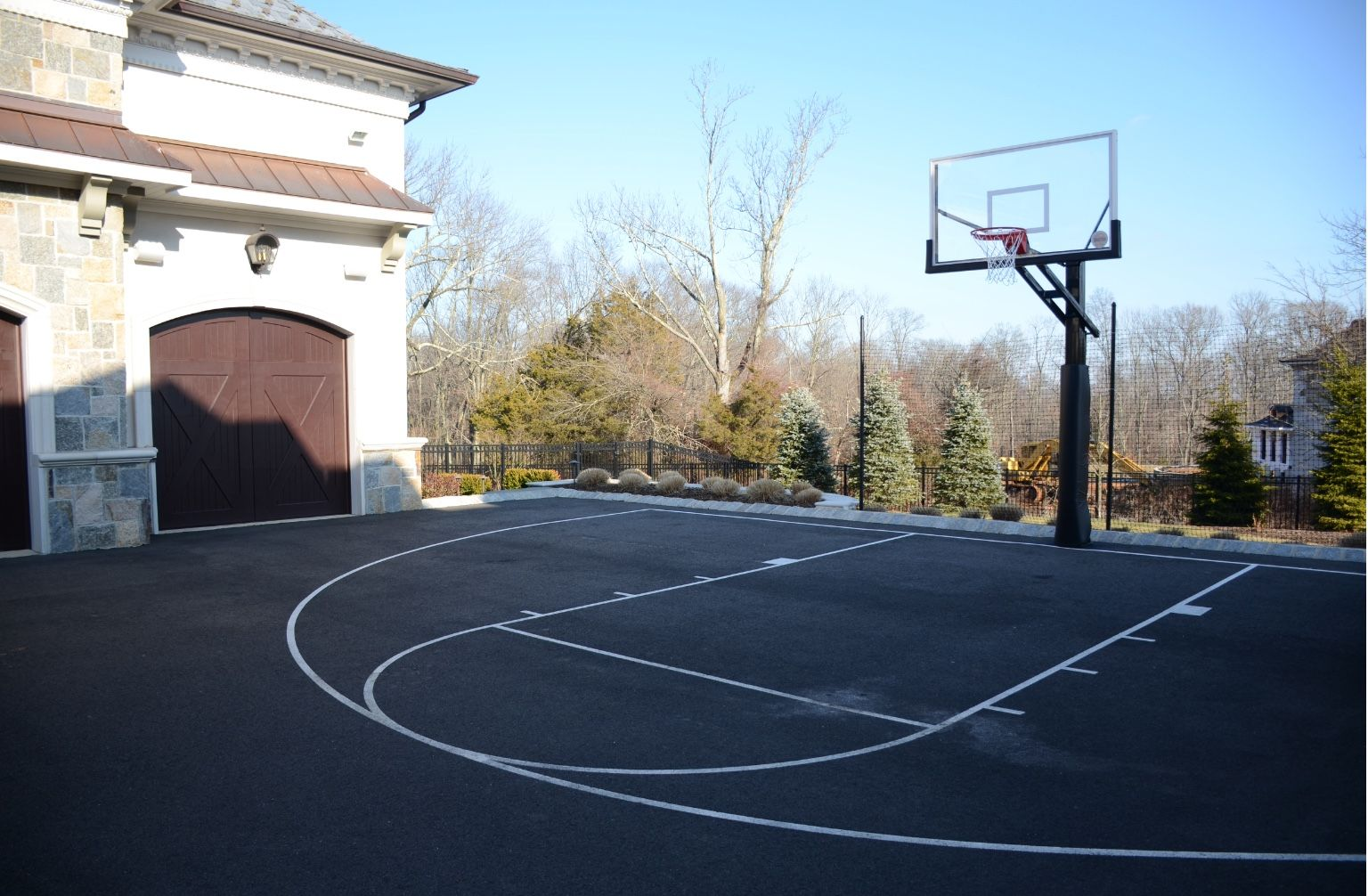 Driveway Basketball Court Basketball Court Backyard Driveway Basketball Court Outdoor Basketball Court