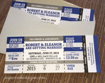 concert ticket invitation with rsvp tear off stub wedding birthday