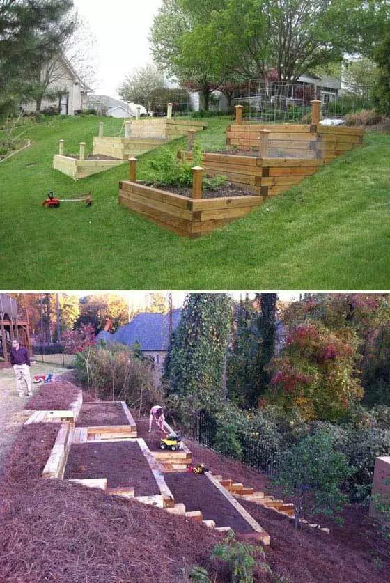 21 Best Sloped Backyard Ideas Designs On A Budget For 2020 Sloped Backyard Landscaping Sloped Backyard Sloped Garden