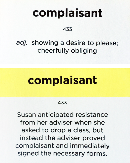 Delightful Word Of The Day: COMPLAISANT