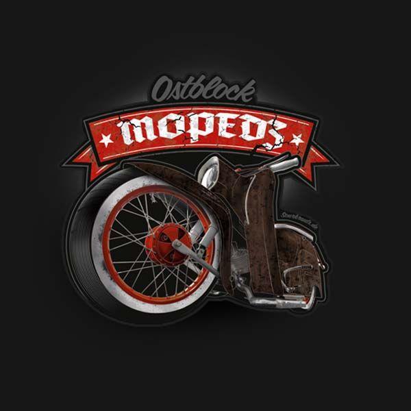 Aufkleber Ostblock Mopedz Vâ² Ossibike Kustoms Simson