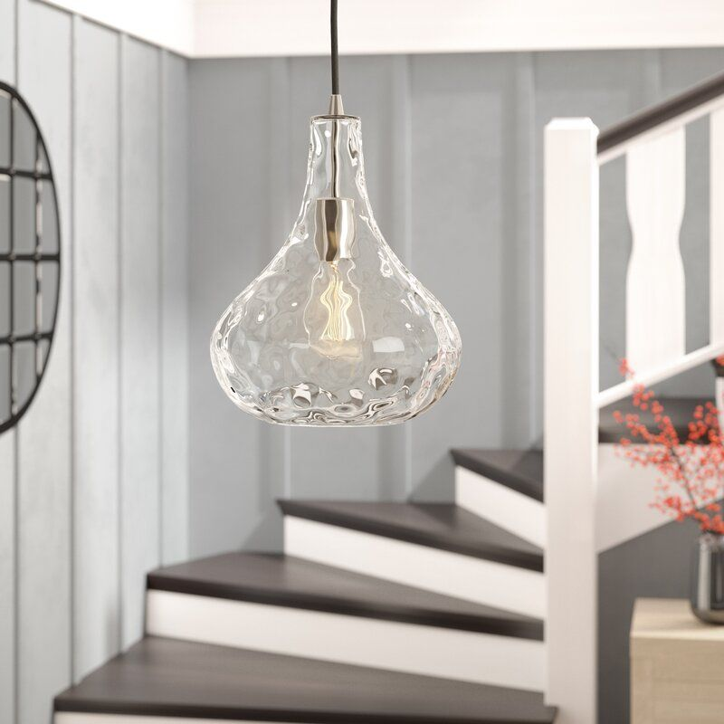 Strathmore 1 Light Single Teardrop Pendant In 2021 Glass Pendant Light Kitchen Pendant Lighting Pendant Lighting