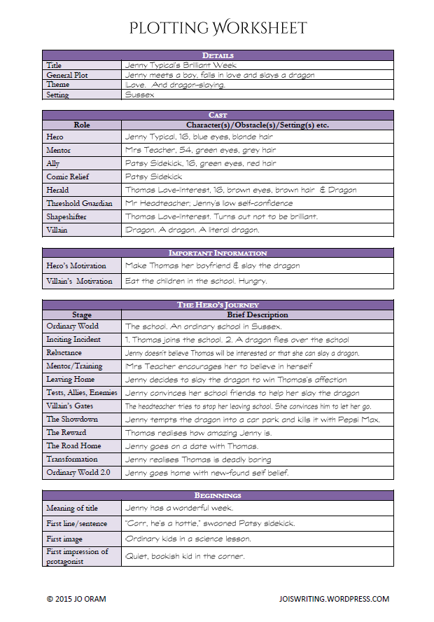 Plotting Worksheet Writing Outline Book Writing Tips