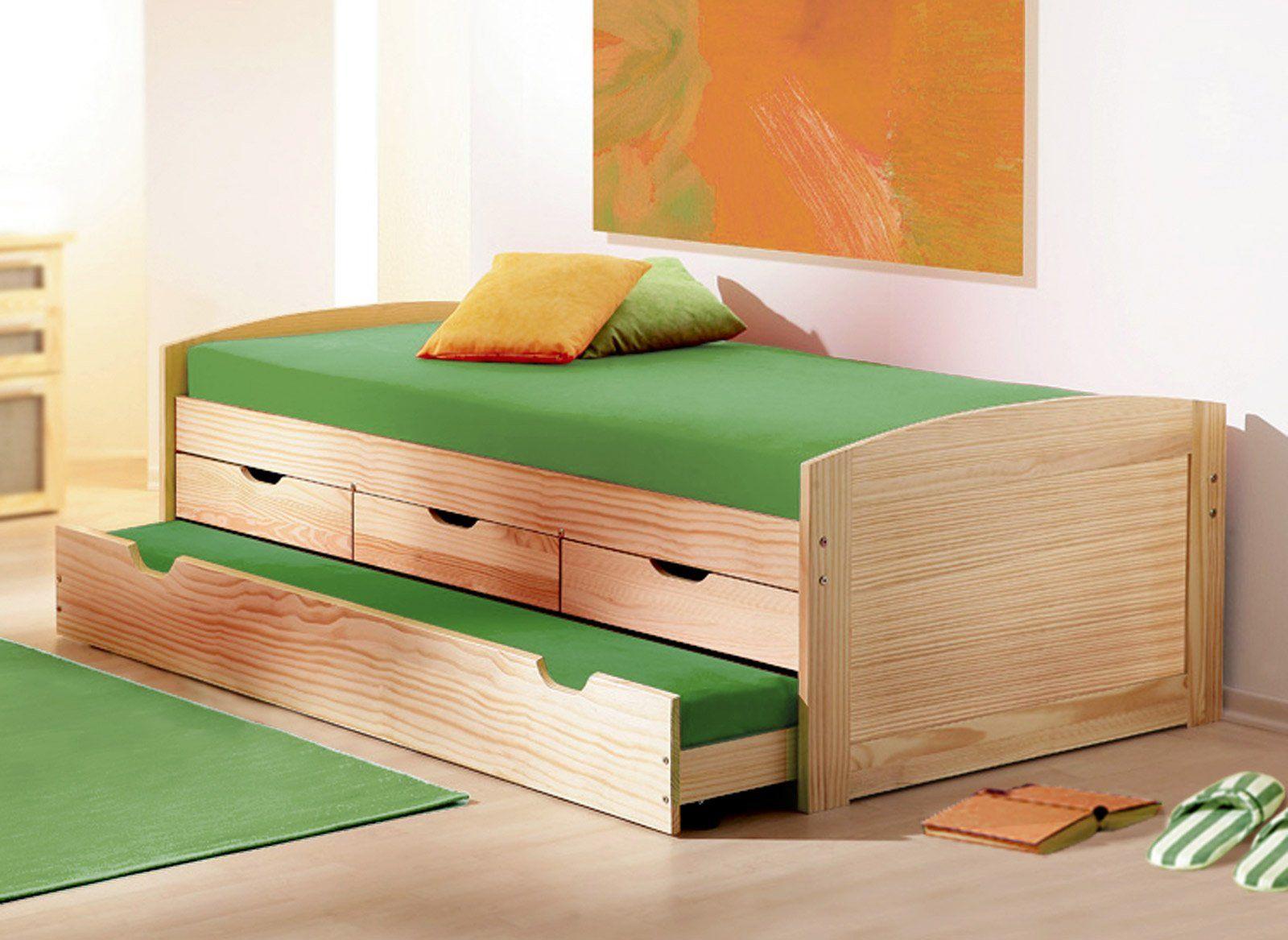 Bett Mit Bett Zum Ausziehen In 2020 Ausziehbett Bett Bett Mit Bettkasten