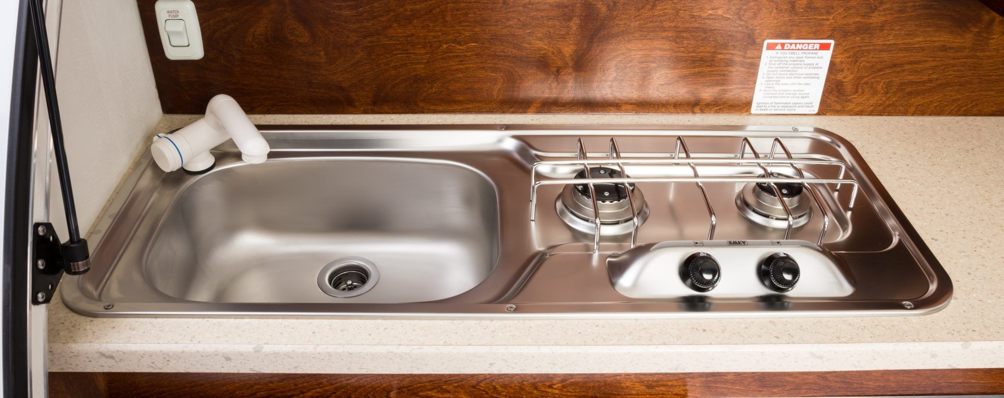 Sink And Stove Combo Nucamp Rv T G Teardrop Trailer Sink