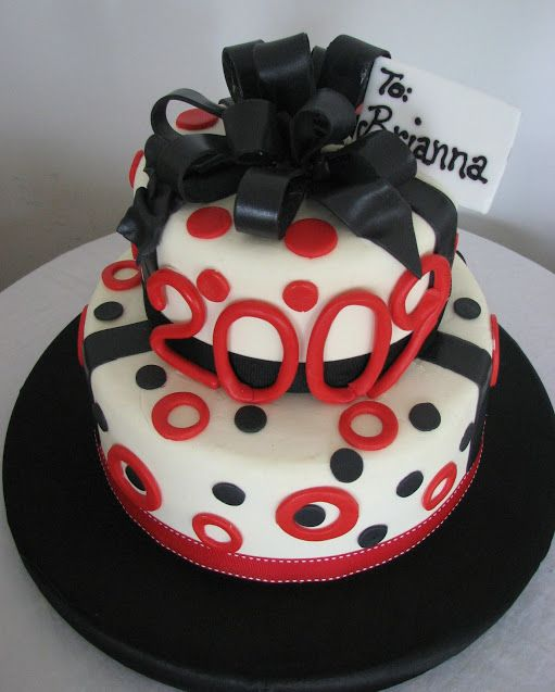 Red And Black Wedding Cakes Ideas: BRIANNA'S GRADUATION CAKE RED, BLACK AND WHITE GRADUATION