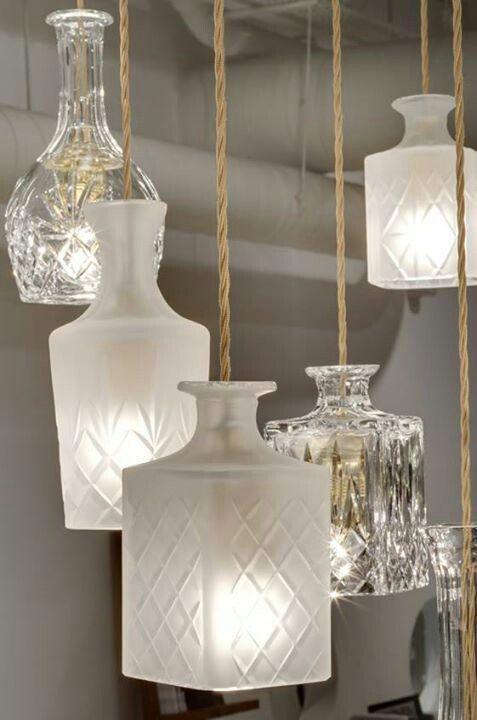 Stunning repurposed decanter lamps