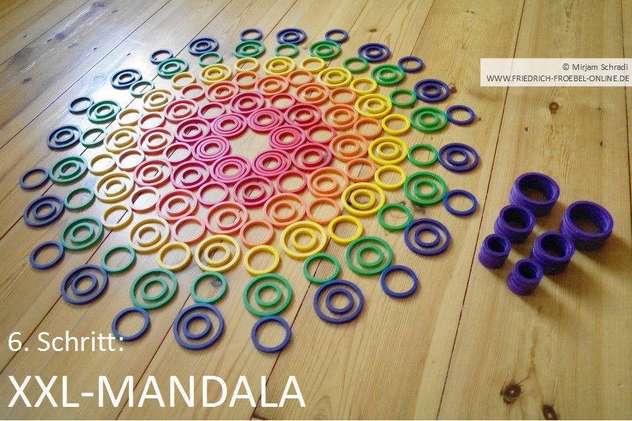 tutorial xxlmandala mit kindern legen  legespiele