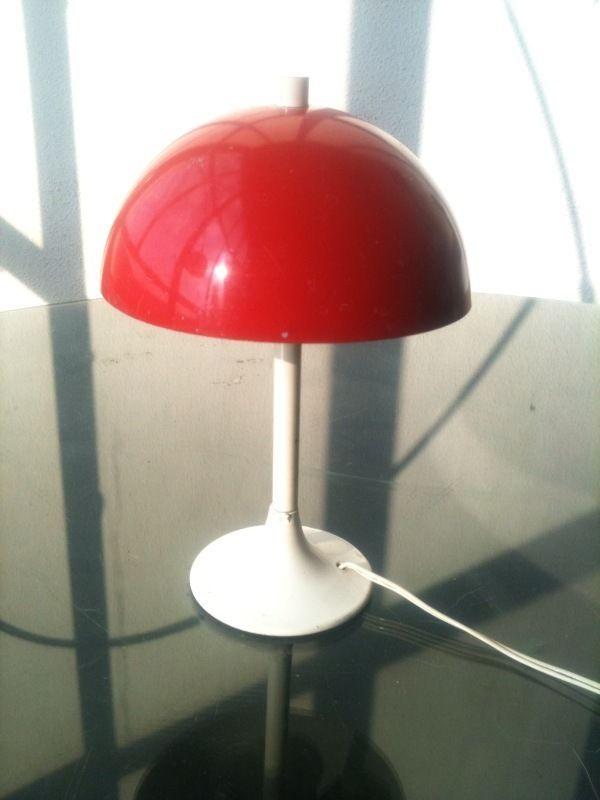 Pierre Disderot Petite Lampe Champignon Vintage Moderniste Space Age Knoll