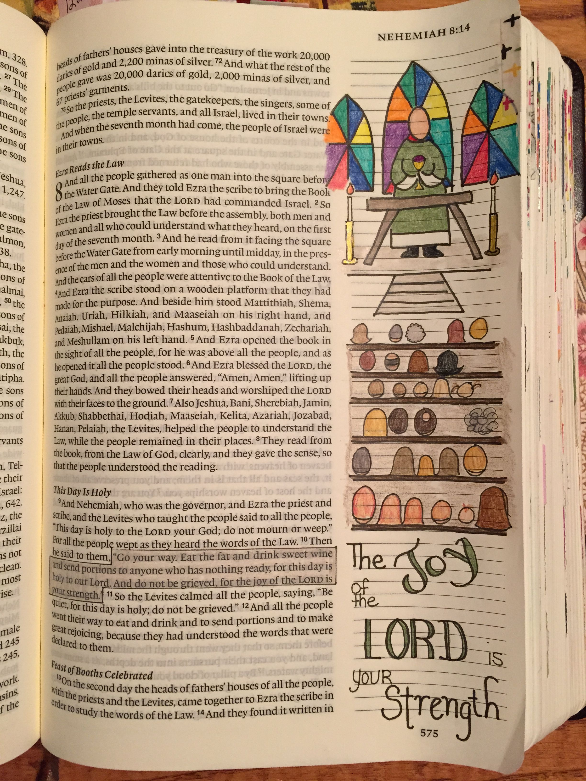 Nehemiah 8:10 The joy of the Lord is your strength bible journaling ...