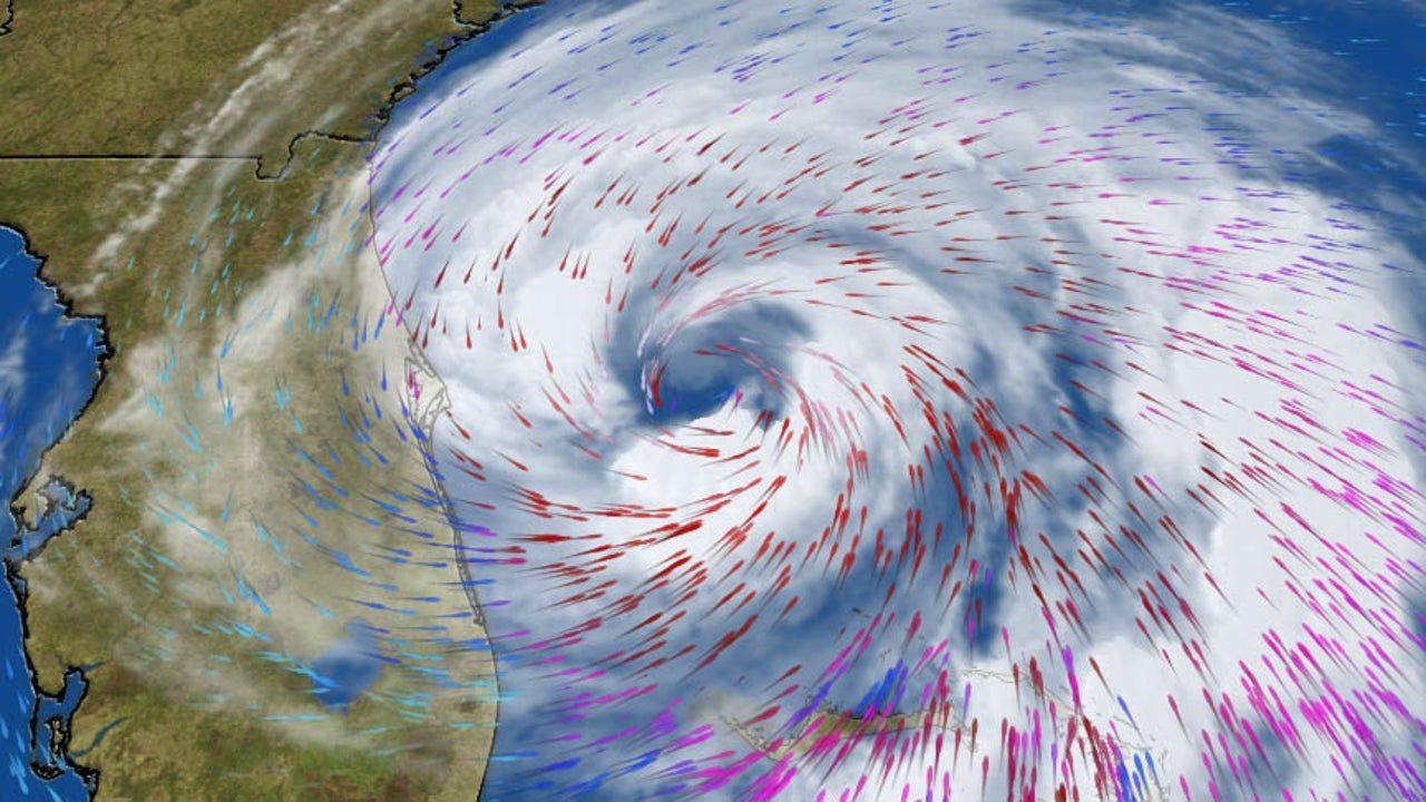 Hurricane And Storm Surge Warnings Posted From Florida To North Carolina Storm Surge Florida East Coast Hurricane