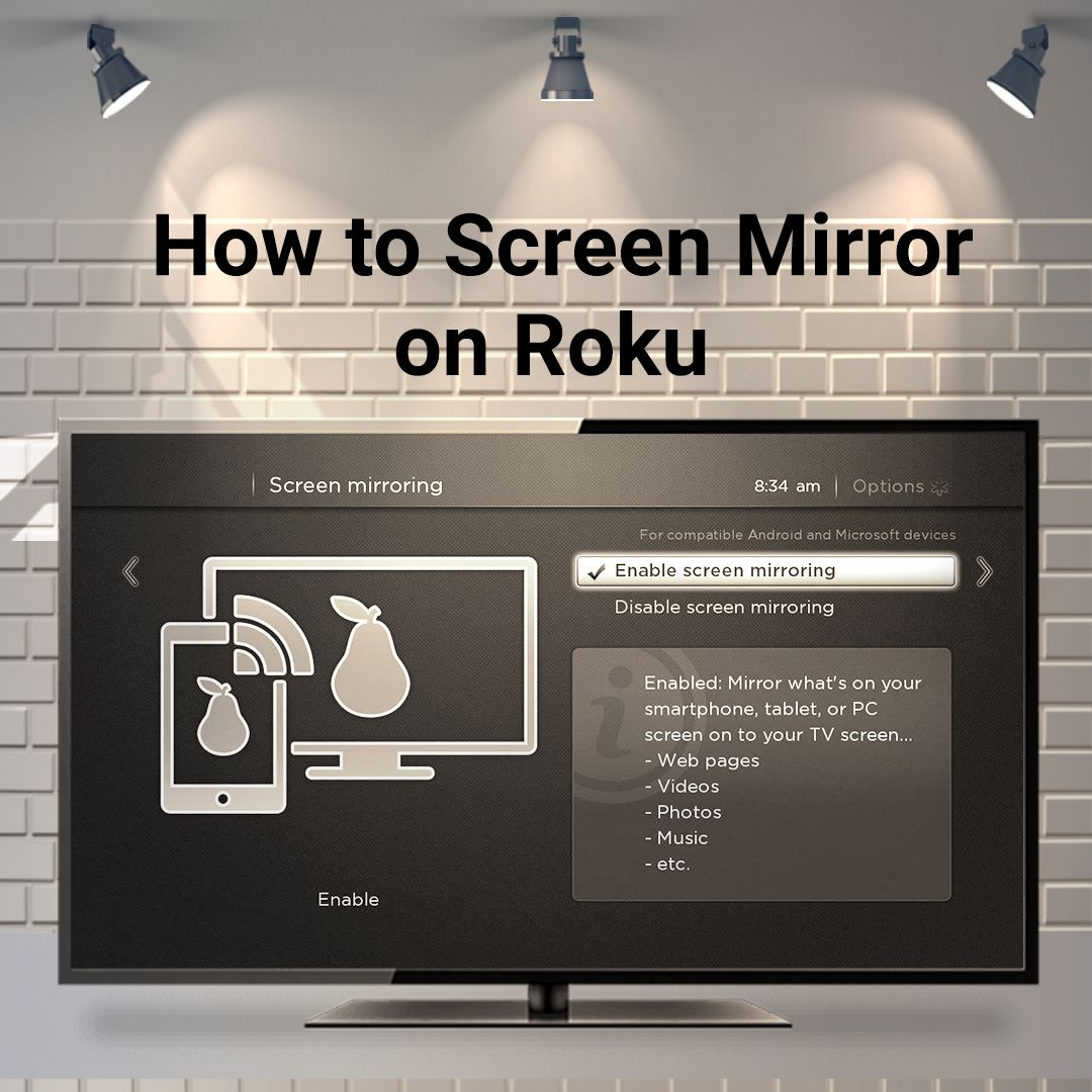 Screen mirroring is the process of mirroring the screen of