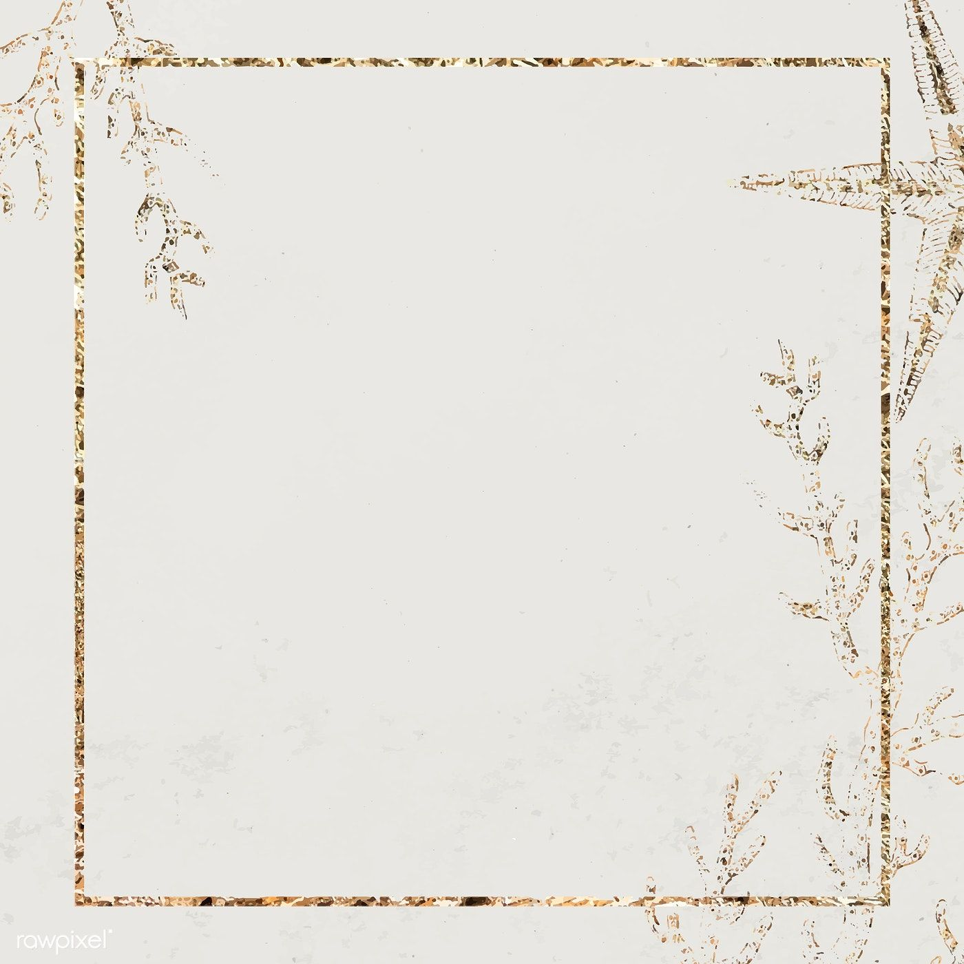 Download And Share Clipart About Gold Frame Border Square Golden Frame Png Find More High Quality Free Transparent Png Cli Bingkai Kartu Undangan Pernikahan