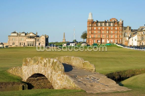 The Famous Swilcan Bridge On St Andrews Old Course Mural Wallsauce Us In 2021 Day Trips From Edinburgh Day Tours Golf Trip