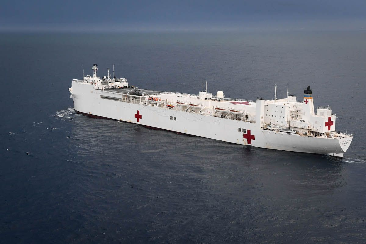 Hospital Ship Comfort Gets Underway From San Juan To Provide Aid From Sea Sailing Adventures Ship Hospital