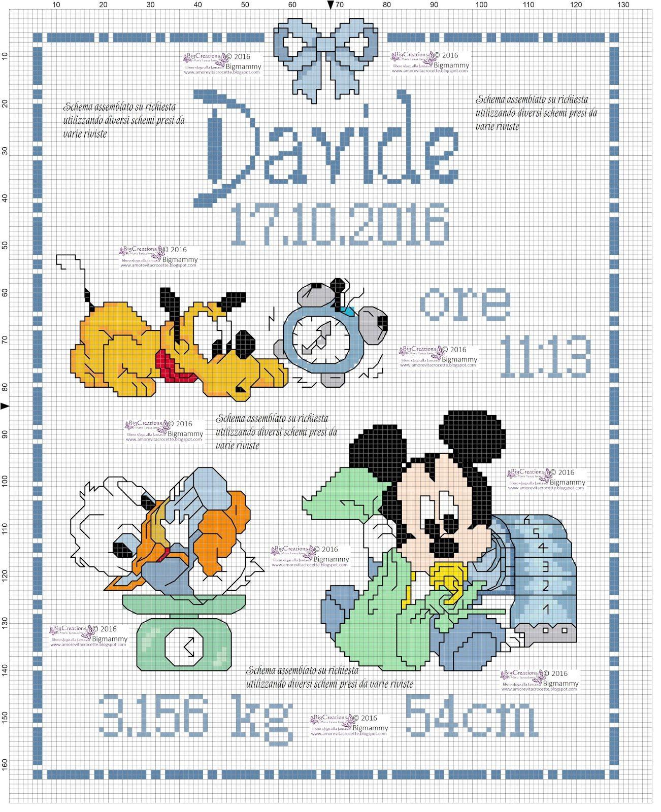Quadretto Nascita Disney Assemblato Su Richiesta Utilizzando