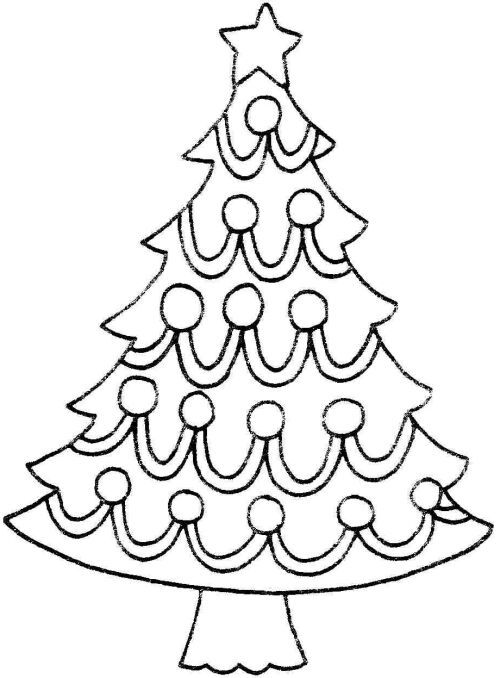 Christmas tree coloring page  kerst  Pinterest  Christmas trees